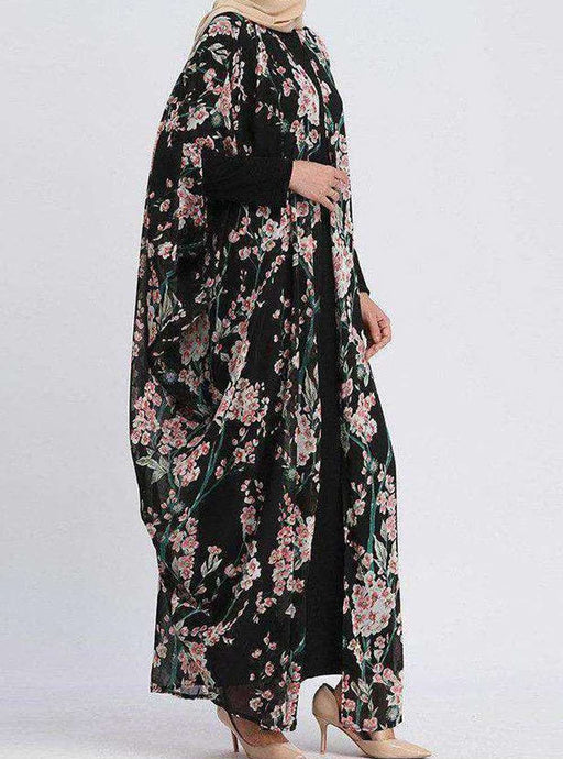 Lilith Floral Open Abaya