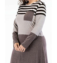 Load image into Gallery viewer, Grey Nada Plus Size Long Dress-ELEVE
