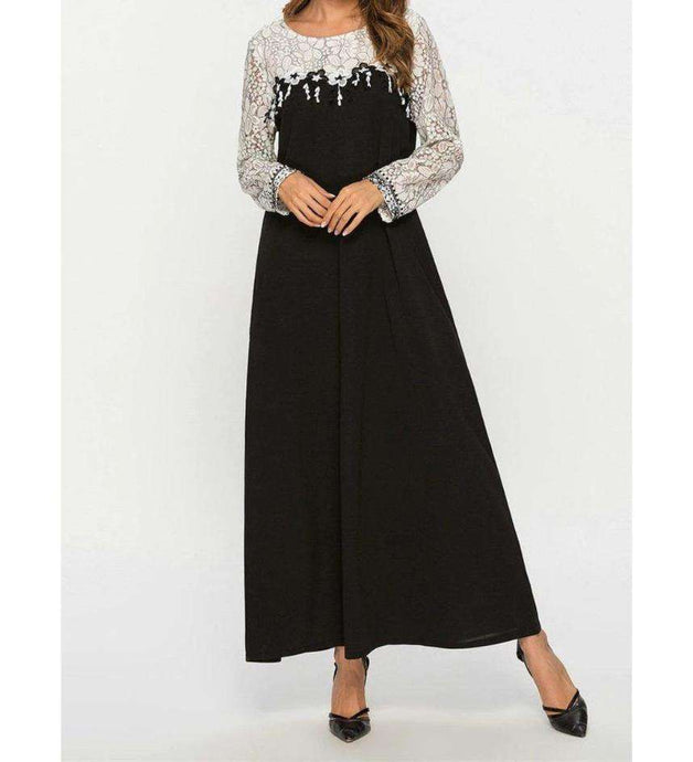 Black Cailey Long Dress-ELEVE