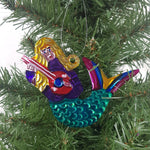 5-piece Mermaid Tin Holiday Ornament Set