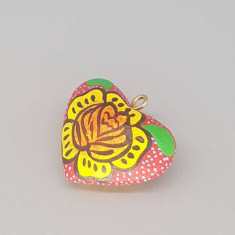 """Cálido"" Heart Charm Colorful Handcrafted"