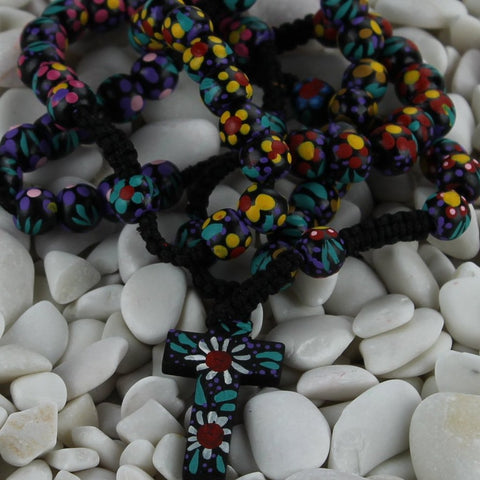 Colorful Wooden Rosary
