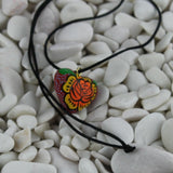 Colorful Wooden Heart Pendant