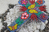 Colorful Floral Butterfly-Cross