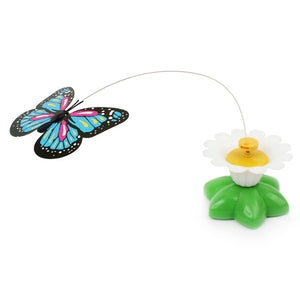 Electric Rotating Colorful Butterfly Funny Cat Toys