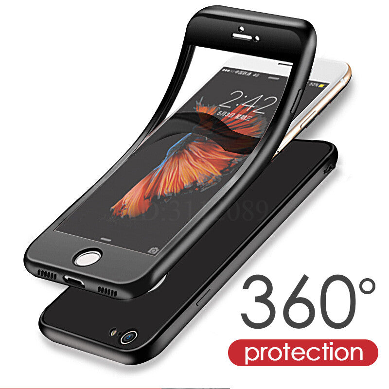 Luxury Silicone 360 Full Cover Cases For iPhone