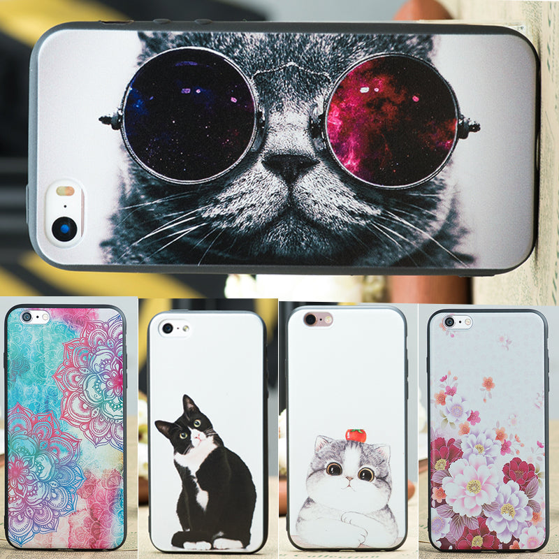 Funny Cover Case for iPhone 6 6s Plus 5S 5 SE 7 7plus 8 X