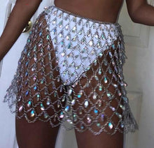 Teardrop Crystal Chain Skirt