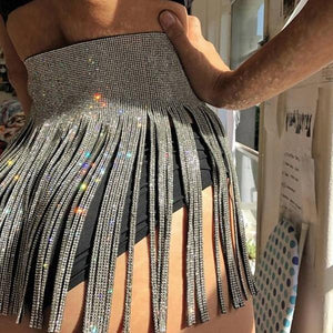 Rhinestone Skirt Belt