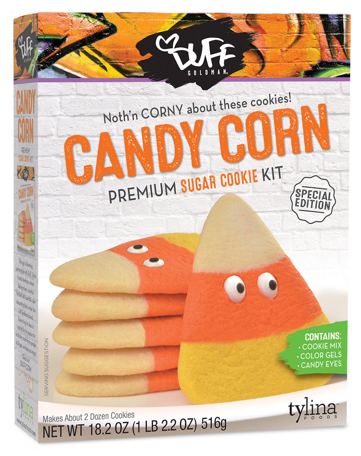 Duff Candy Corn Cookie With Eyes