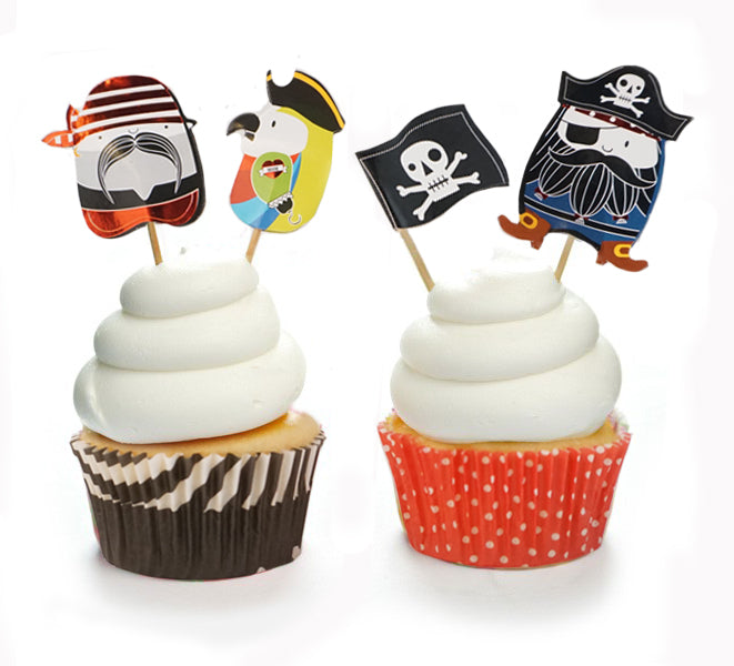 Duff Let's Paargty Pirate Cupcake Kit 48 Pcs