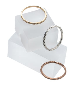 Snake Textured Stacking Rings<br>Ready To Ship