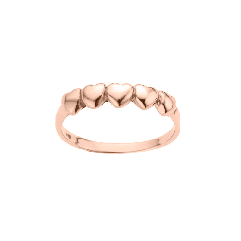 Multi Heart Band Ring
