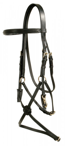 Pfiff SNAFFLE BRIDLE WITH MEXICAN NOSEBAND