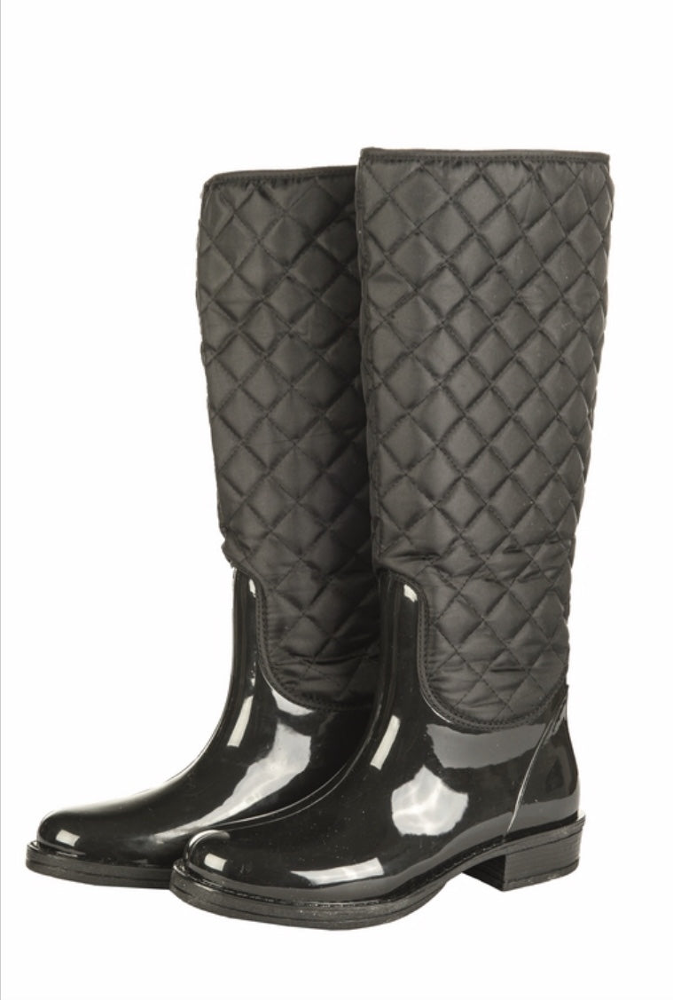 Hkm quilt star wellington boot