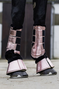 hkm metallic rose gold overreach boots