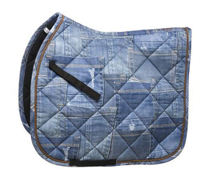WAHLSTEN denim saddle pad