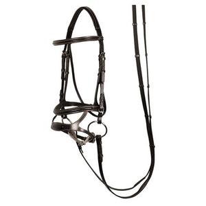 H&h double nose band bridle