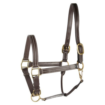 H&h luxury leather head collar