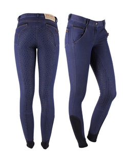 QHP Denim anti slip full seat breeches