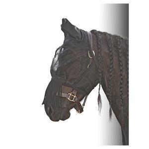 H&h Fly mask and fly shield with fringe
