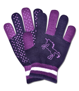 Magic unicorn grippy gloves