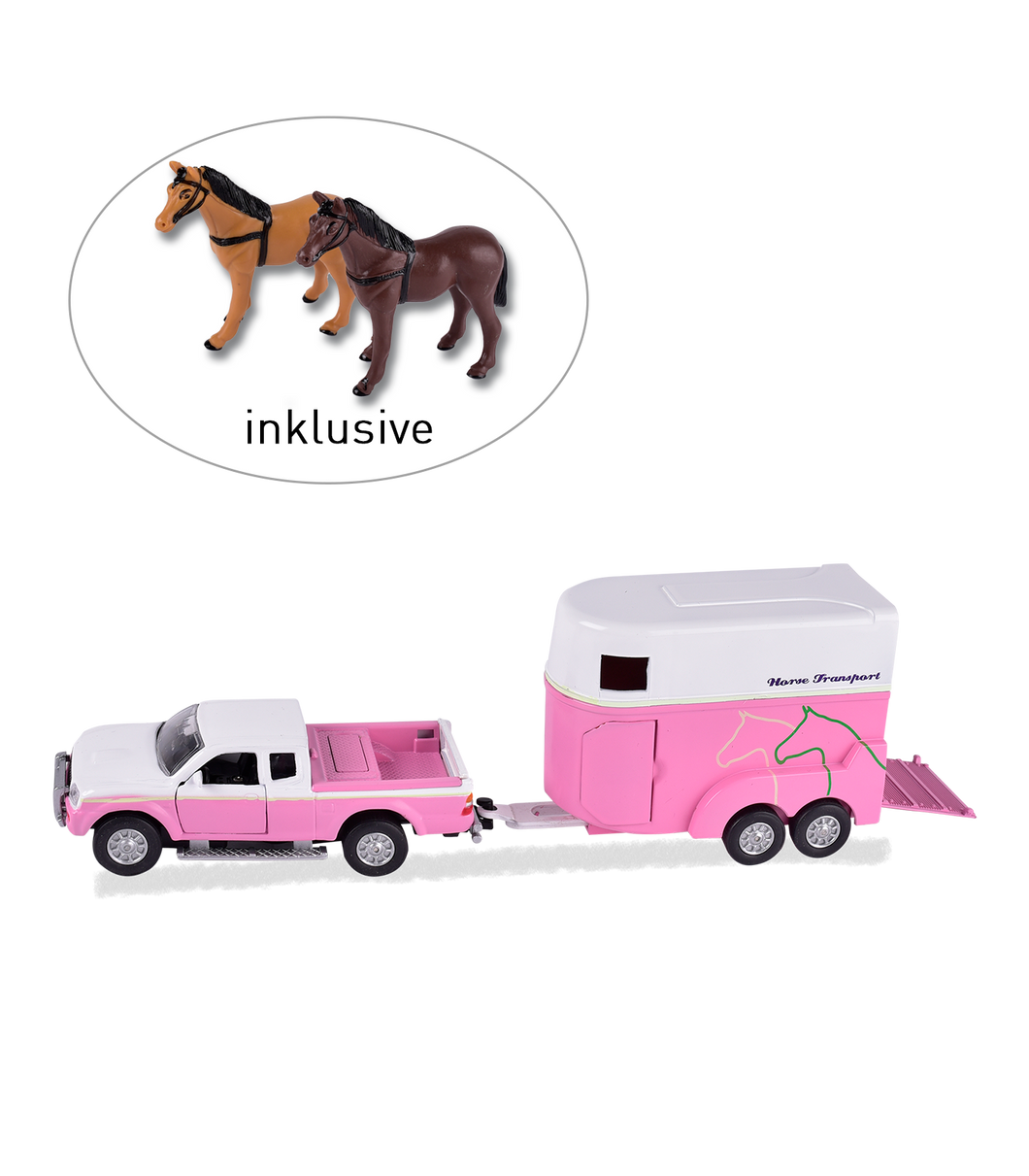 PINK HORSE TRAILER PLAY SET