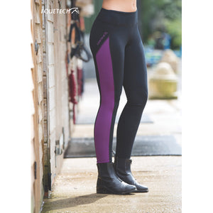 Equetech  freedom sports riding tights black/sky blue