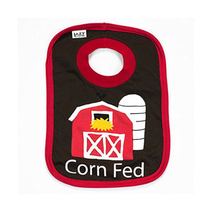 LazyOne Boys Corn Fed Baby Bib