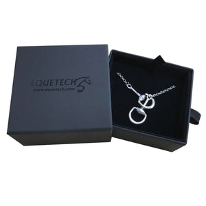 Equetech snaffle bit necklace