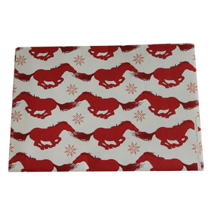 DECKLED EDGE GIFT WRAP CHRISTMAS HORSEY