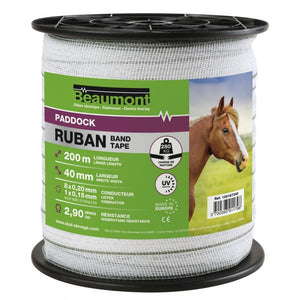 Ruban 40mm electric fence tape