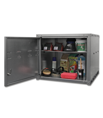 Top mounted metal cabinet