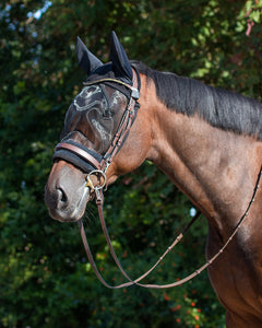 Ear net with fly mask for bridle