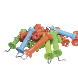 Electric fence gate handles pack of 10 assorted colours
