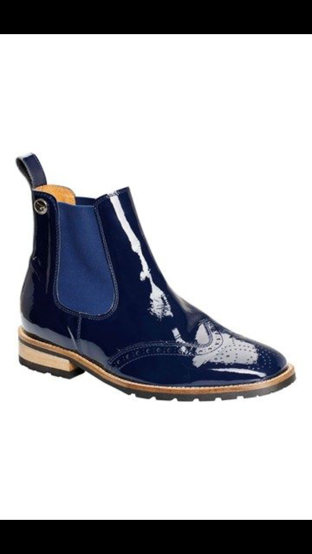 Montar blue leather boots