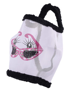 Qhp funny face fly mask