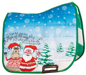 H&h Christmas saddle pad