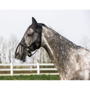 Light fly mask with fringe