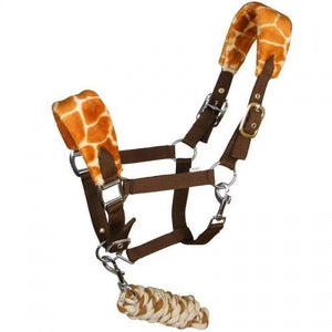 Giraffe print head collar set