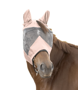 W Rose pink fly mask