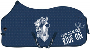 Keep calm fly rug and neck
