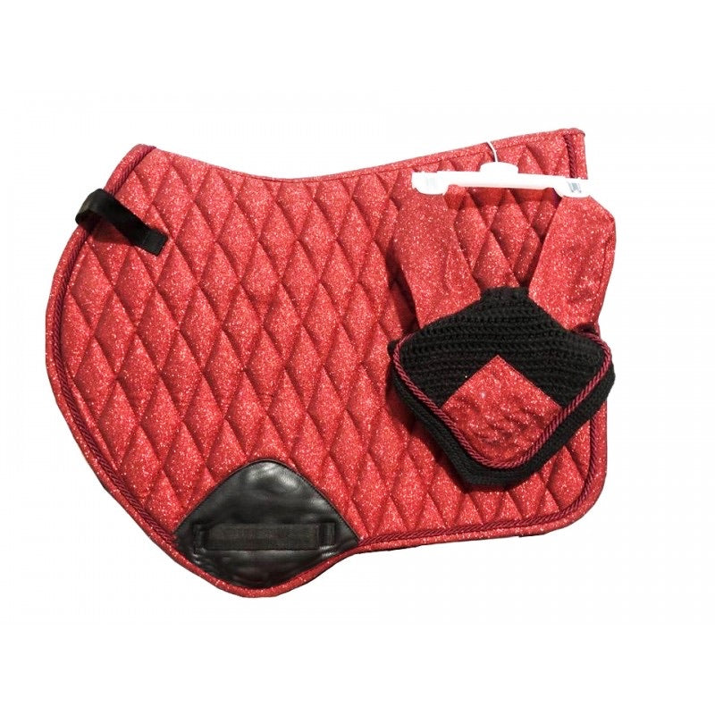 Vogue saddle pad and ear bonnet set