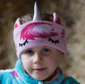 Unicorn knit headband