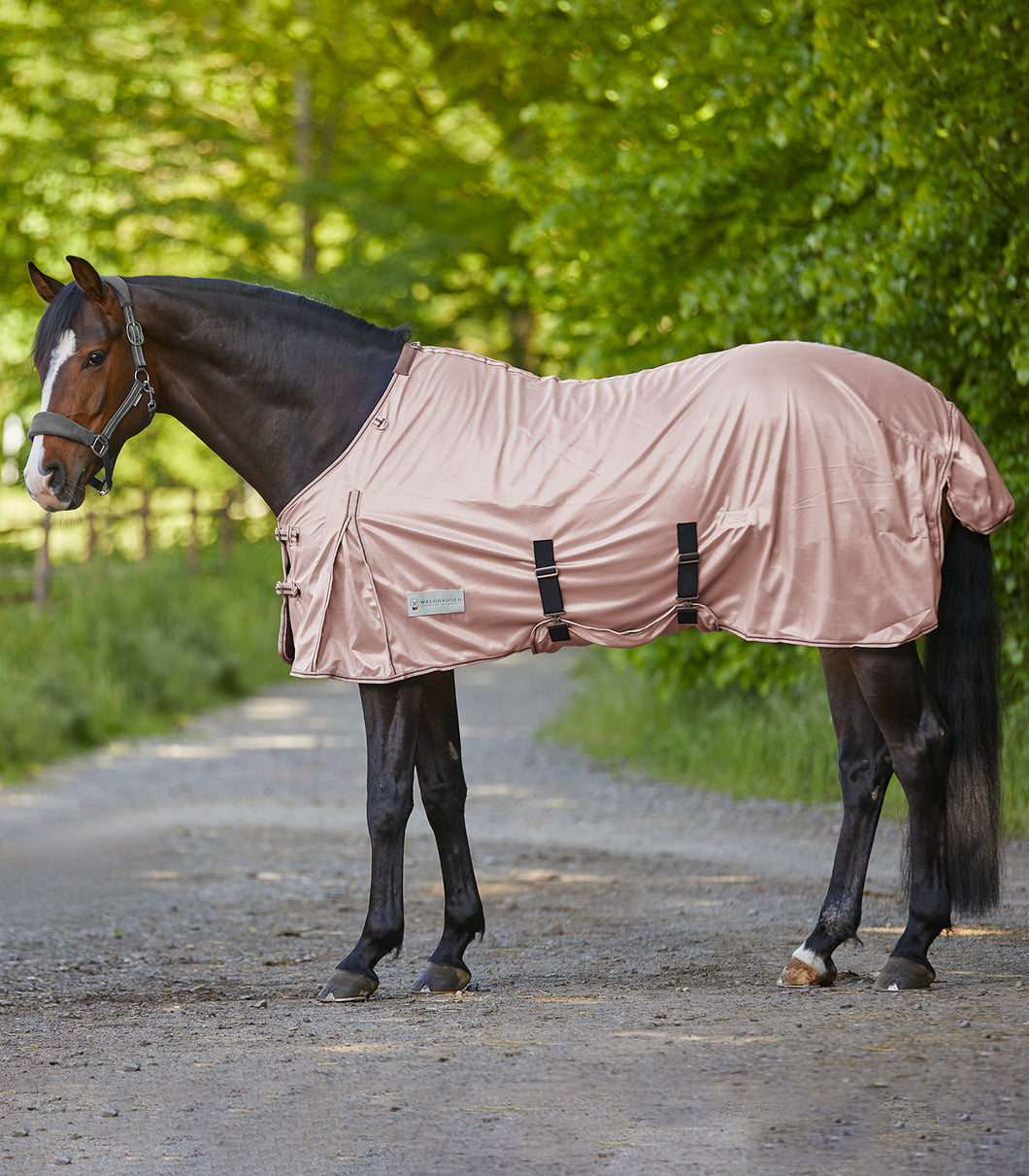 Pale rose pink standard fly rug