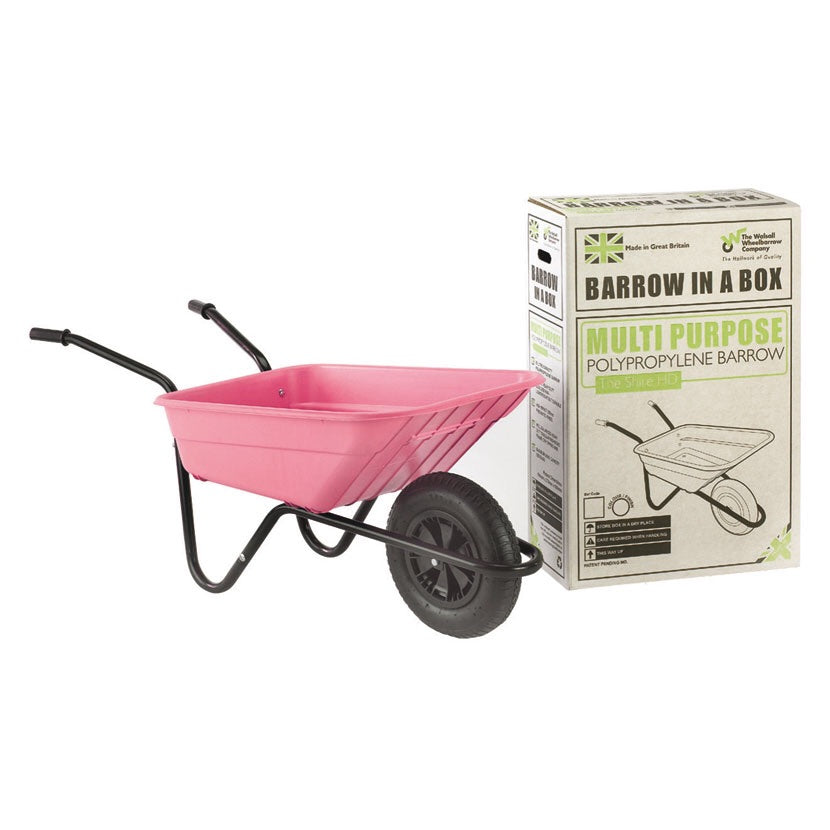 Pink barrow in a box