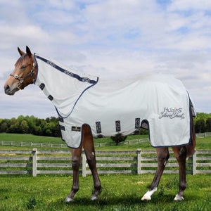 Horses Silver Sheet Plus Fly Rug