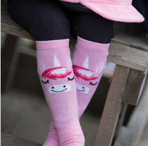 Unicorn riding socks