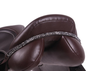 Saddle jewellery for brown leather