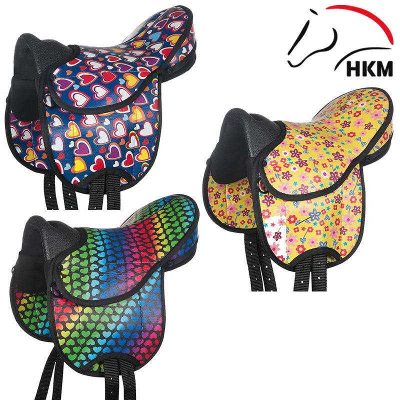 HKM colourful Shetland saddle set